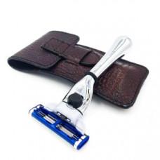 Дорожный станок для бритья PARKER для кассет MACH3, арт. TM-3